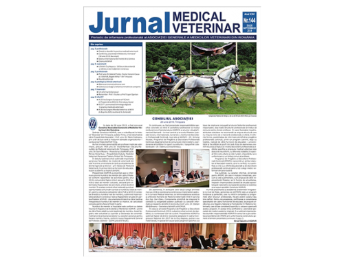 Jurnalul Medical Veterinar 144 / Iulie-Septembrie 2019
