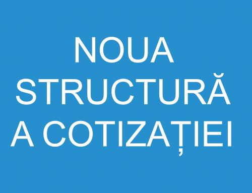 Noua structură a cotizației