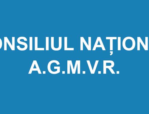 CONSILIUL NAȚIONAL A.G.M.V.R. 21-22 .10.2021